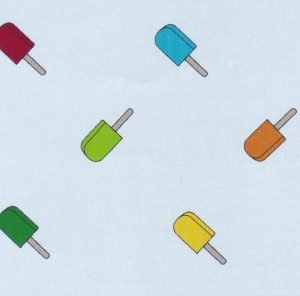 Ice Pops on Sky Chambray Fabric