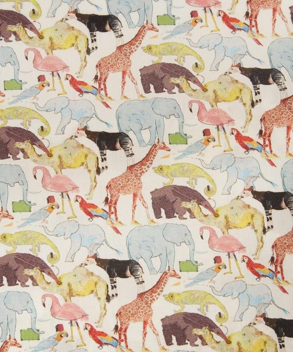 Queue for the Zoo Liberty of London Tana Lawn Fabric