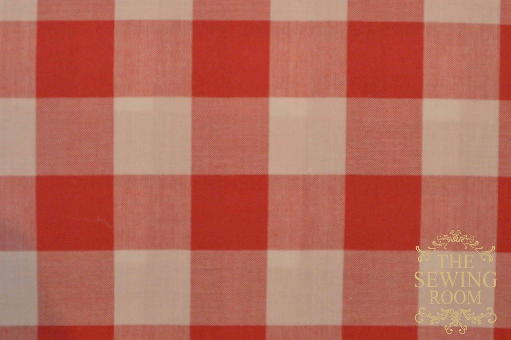 Red and White Buffalo Gingham Check