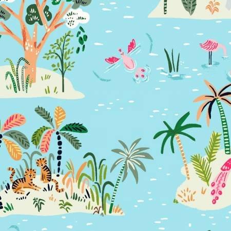 Reef Island Life Fabric by Dear Stella