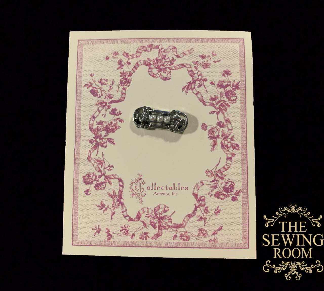 Rhodium Baby Pearl Beauty Pin