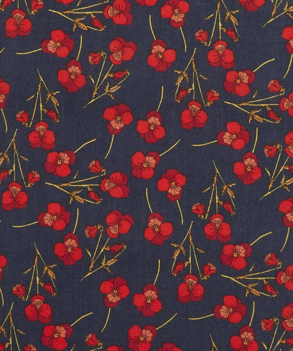 Ros S Navy and Red Liberty of London Tana Lawn Fabric