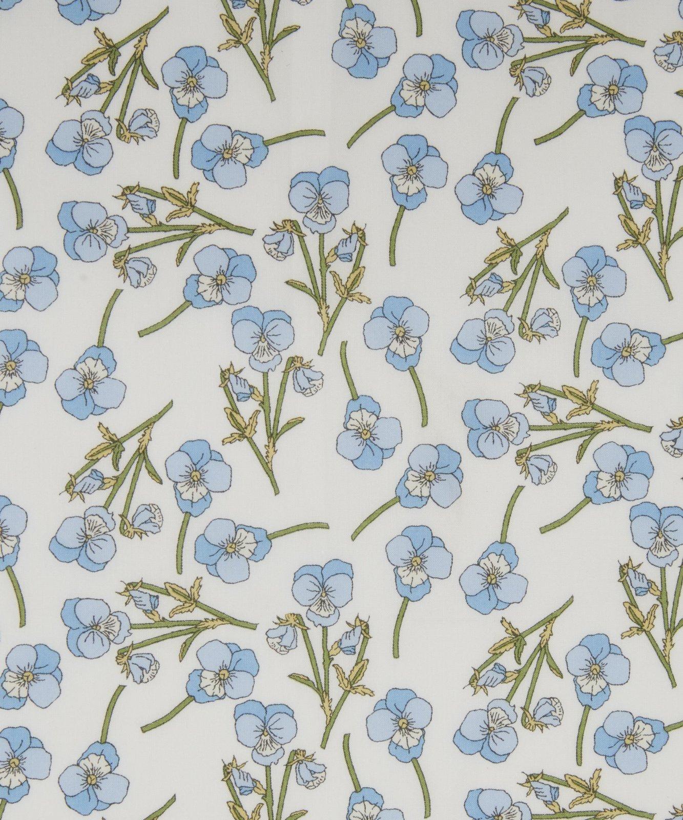 Ros K Liberty of London Tana Lawn Fabric Light Blue on White