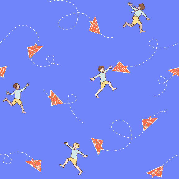 Chasing Airplanes Sailor Fabric by Michael Miller