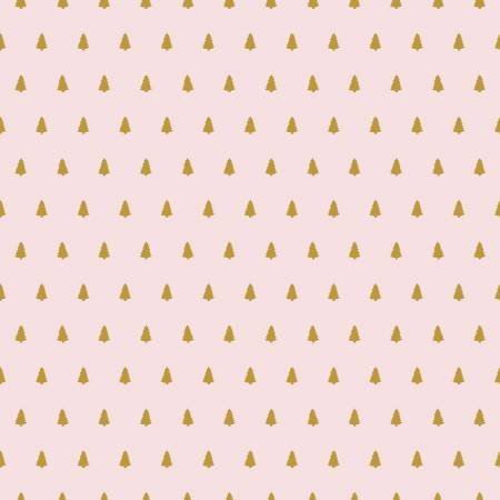 Santa Claus Lane Trees Pink Fabric by Riley Blake