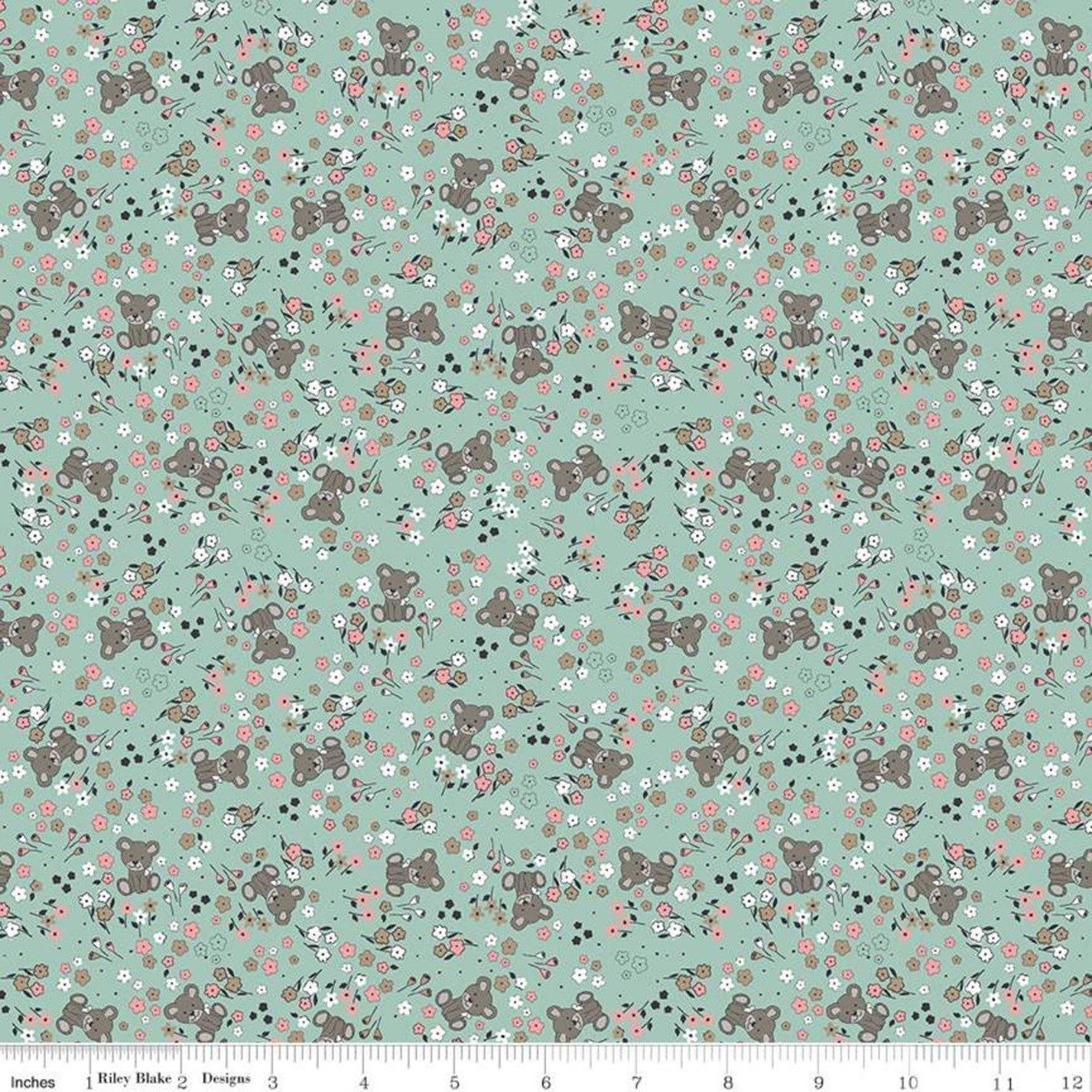 Sleep Tight Garden Mint Fabric by Gabrielle Neil for Riley Blake Designs