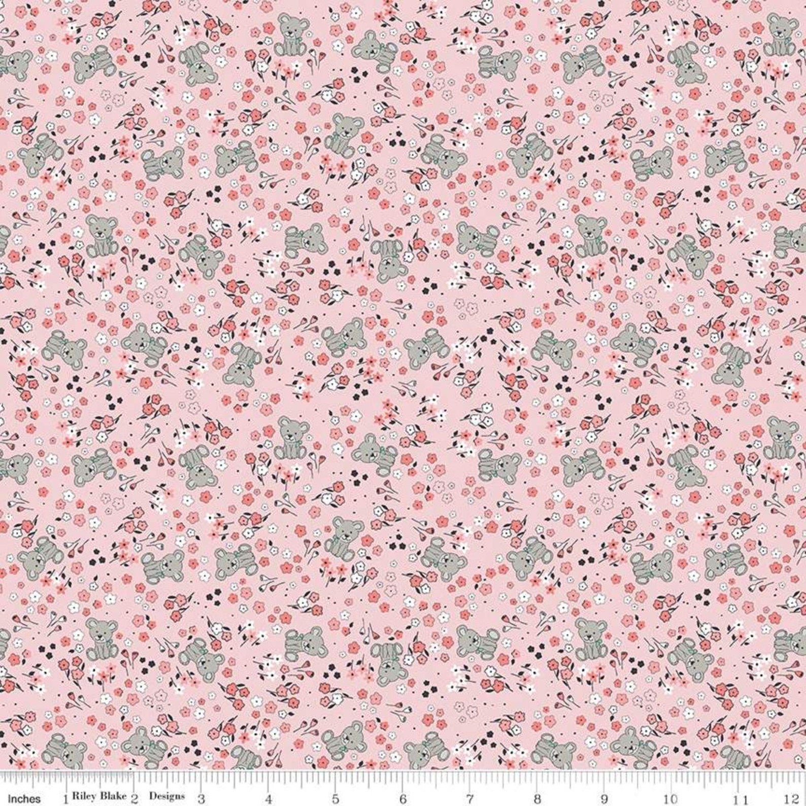 Sleep Tight Garden Pink Fabric by Gabrielle Neil for Riley Blake Designs