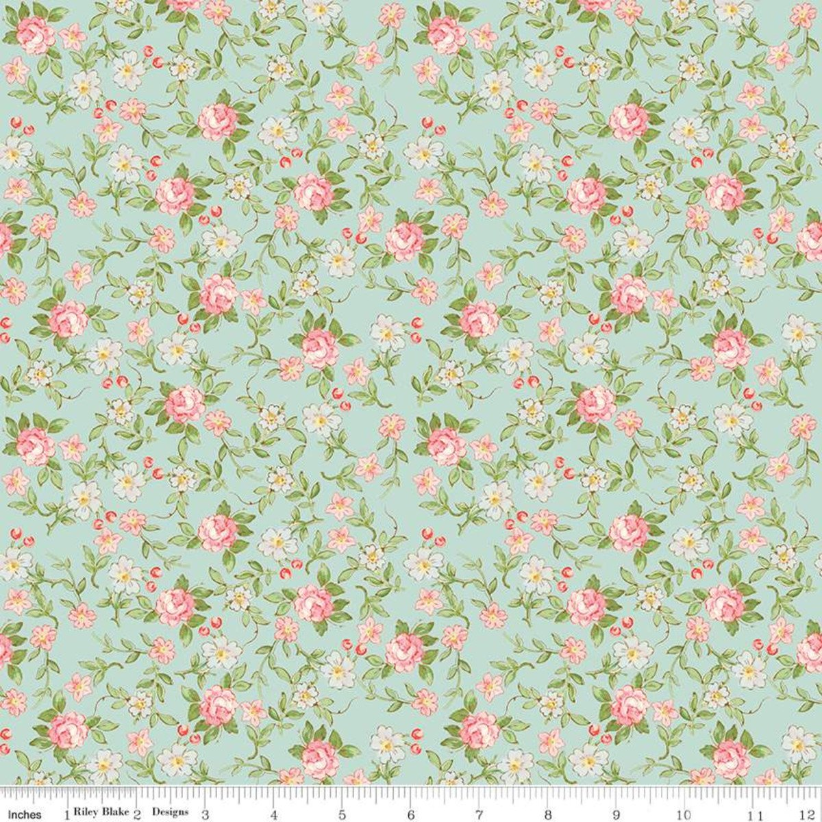 Rose & Violets Garden Sweet Blossoms Songbird Fabric by Riley Blake