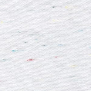 Speckle Blue Red Yellow and Green on White Fabric
