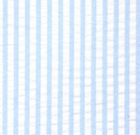 Blue Striped Seersucker Fabric
