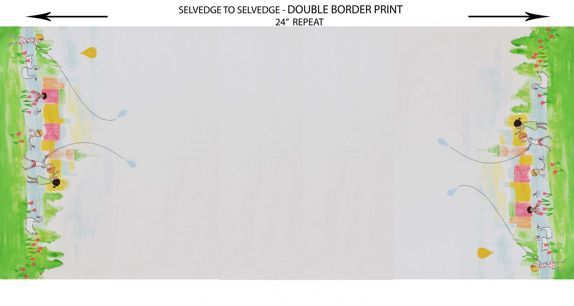 Sommer Panel - Double Border Fabric by Michael Miller
