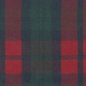 Navy Red and Green Plaid Fabric