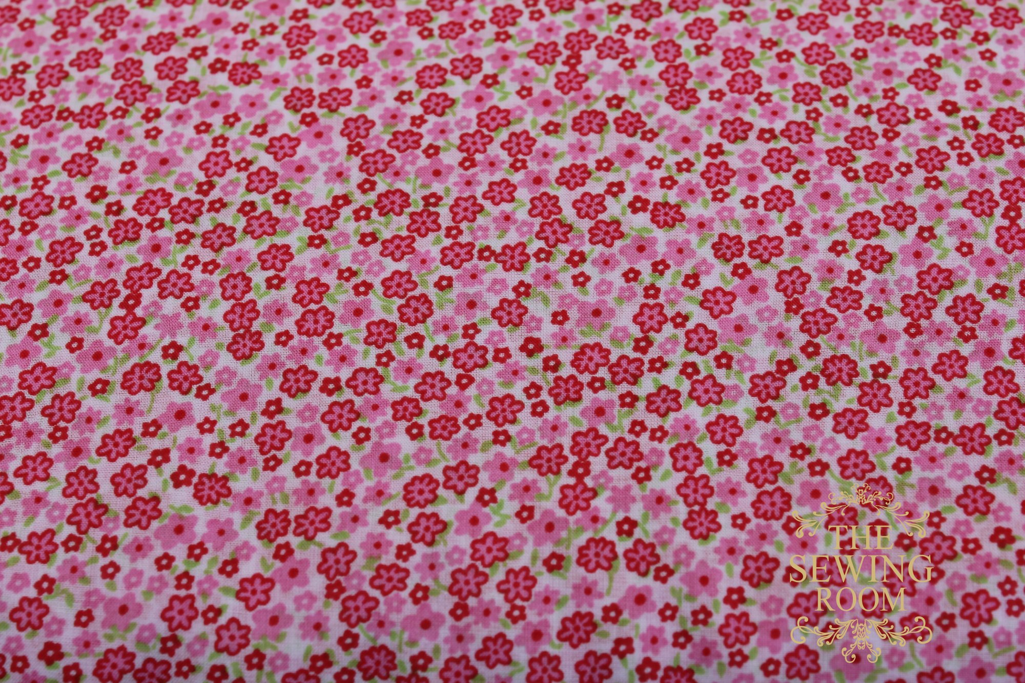 Tiffany Lawn Pink and Green Floral Fabric by Spechler-Vogel Textiles
