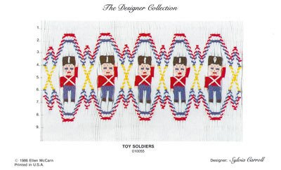Toy Soldiers Smocking Plate by Ellen McCarn