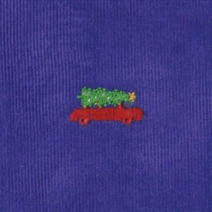 Christmas Tree/Car Embroidered Corduroy