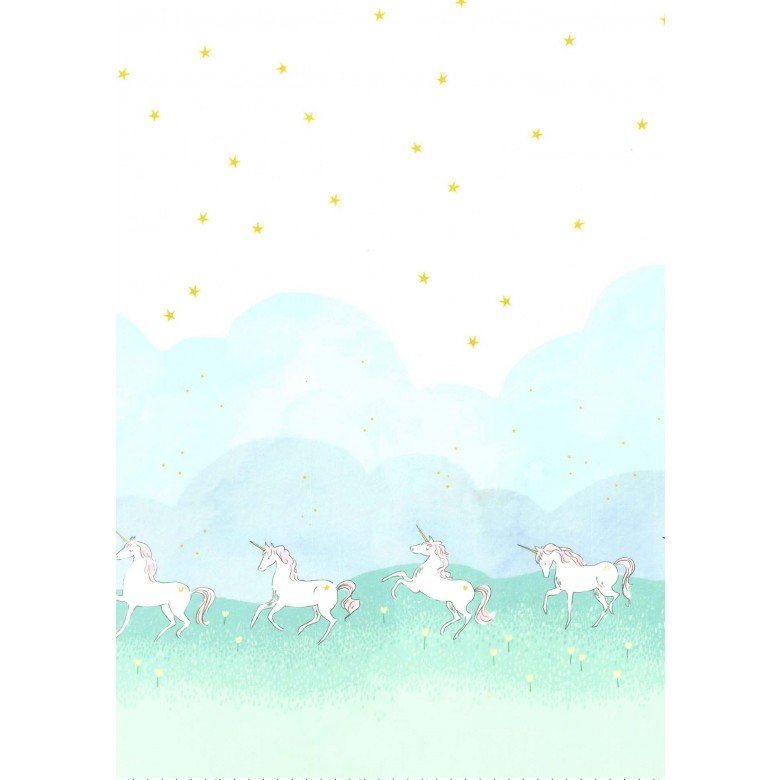 Unicorn Parade on Minky Fabric by Michael Miller