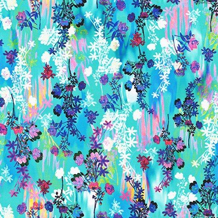 Bright Side Lawns Fabric - Waterfall