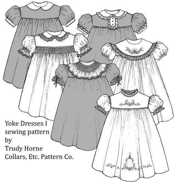 Trudy Horne's Yoke Dresses I Collars Etc. Pattern Company Sizes 1-8