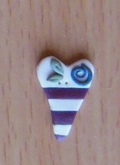 July Flag Heart Button