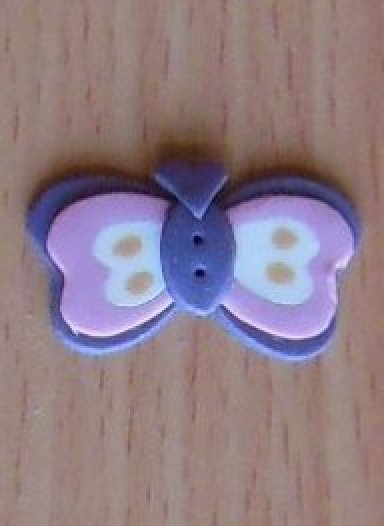 May Butterfly Button
