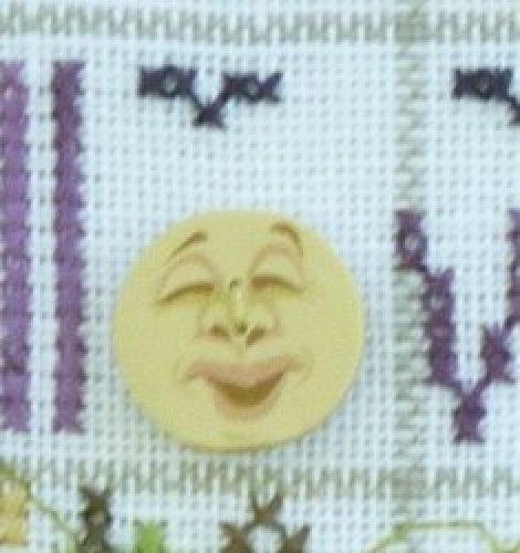 Halloween Moon Button