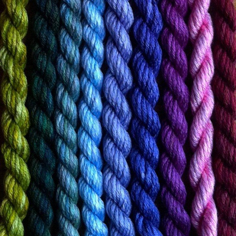 Thread Gatherer Hand painted Silk