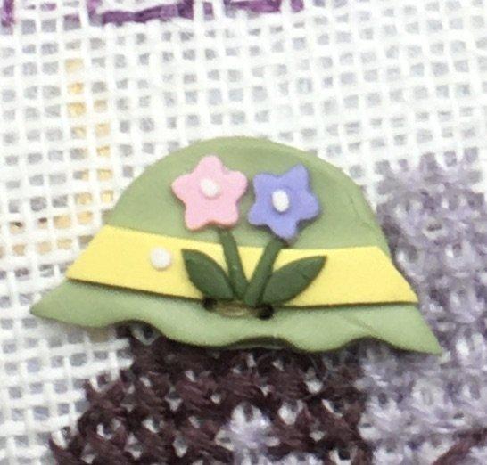 Easter Bonnet Button