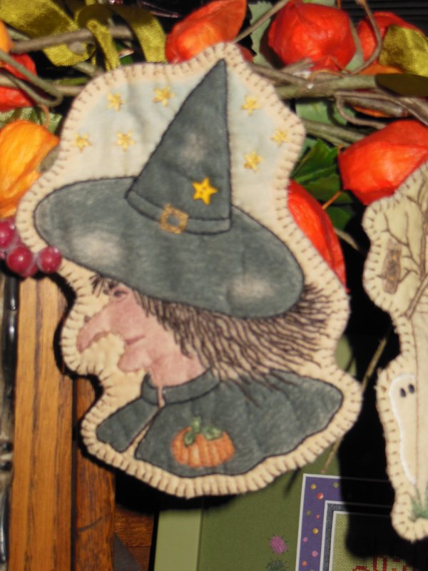 Wicked Witch Embroidery ornament
