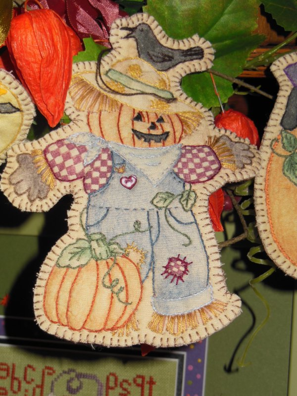 Scarecrow Embroidery Ornament