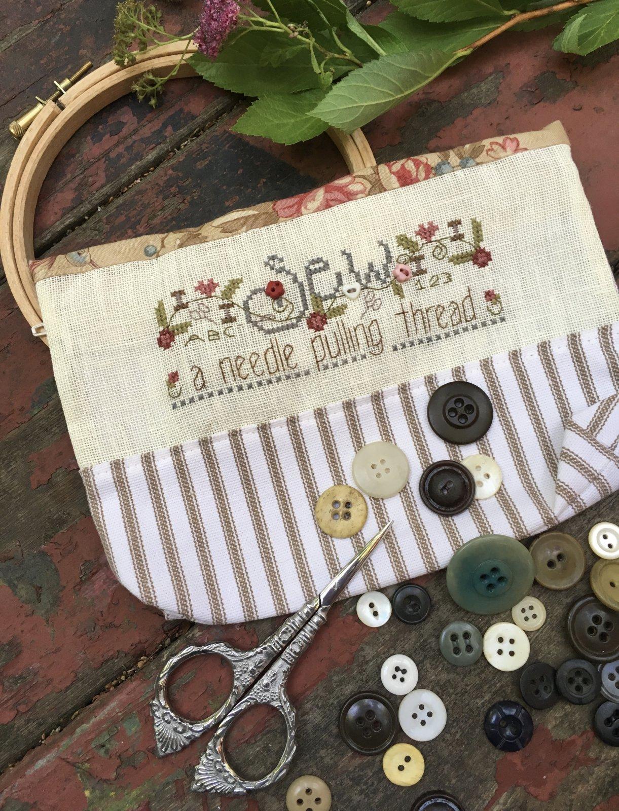 Sew,  A Needle Pulling Thread Bag