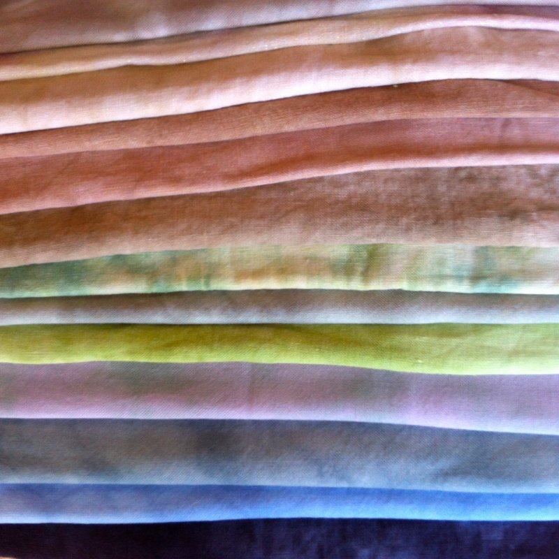 32 count hand- dyed linen