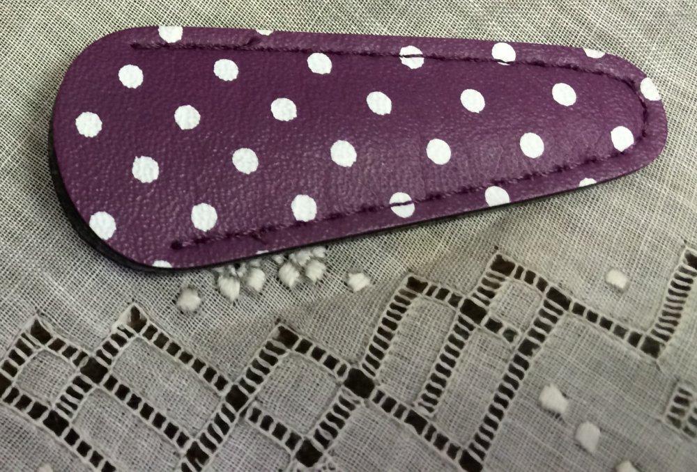 Purple Polka Dot Scissor Sheath