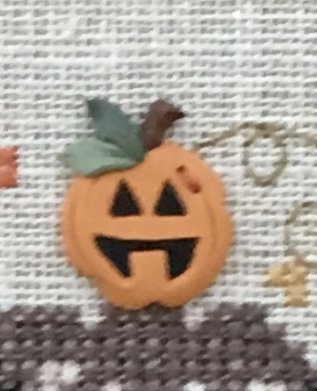Happy Pumpkin Button