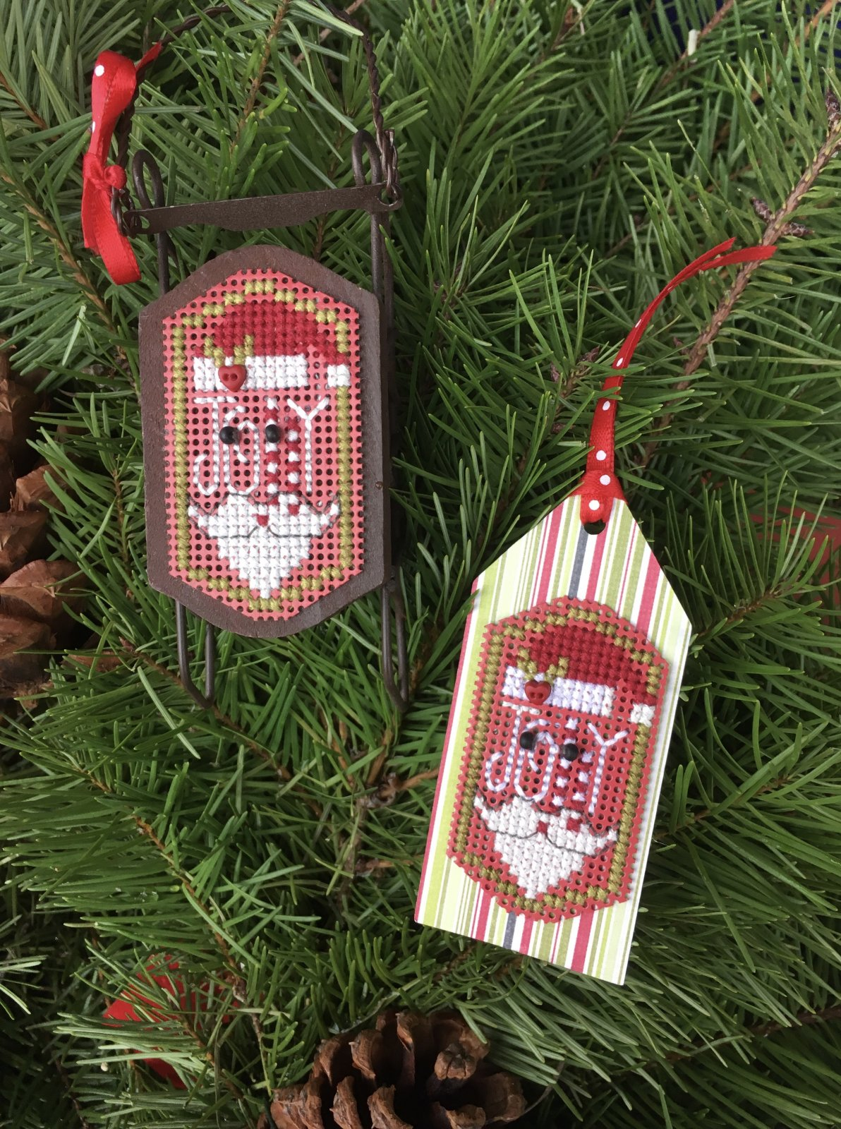 Jolly Santa tag