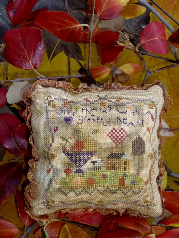 Grateful Heart Pincushion