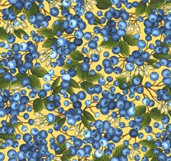 Blueberries on Butter by Quilting Treasures