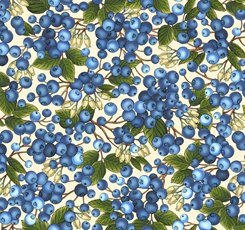 Blueberries on Cream by Quilting Treasures