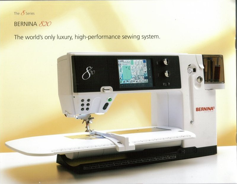 Bernina 830E Piano Black