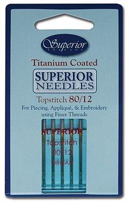 Superior Titanium Coated Needles #80/12 Topstitch