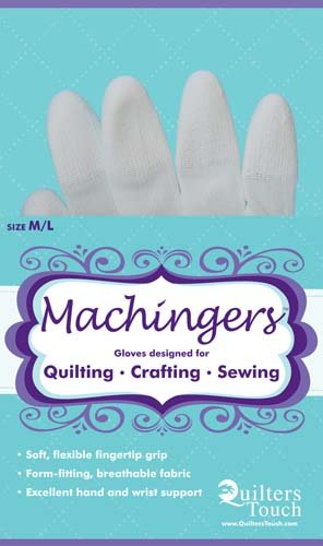Machingers Gloves designed for Quilting etc M/L size