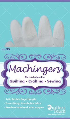 Machingers Gloves designed for Quilting etc XS size