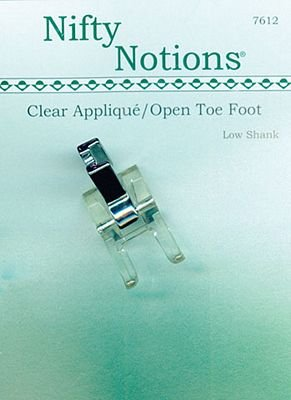Foot, Singer 221 Embroidery Open Toe, Clear Plastic