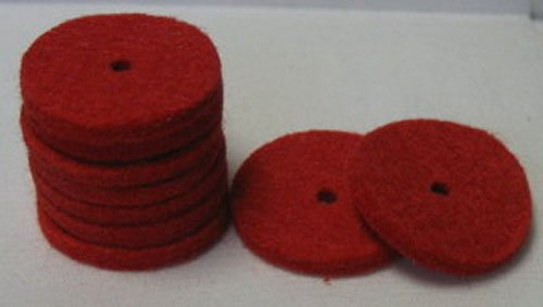 Felt, Spool pin, red (Set of 4)