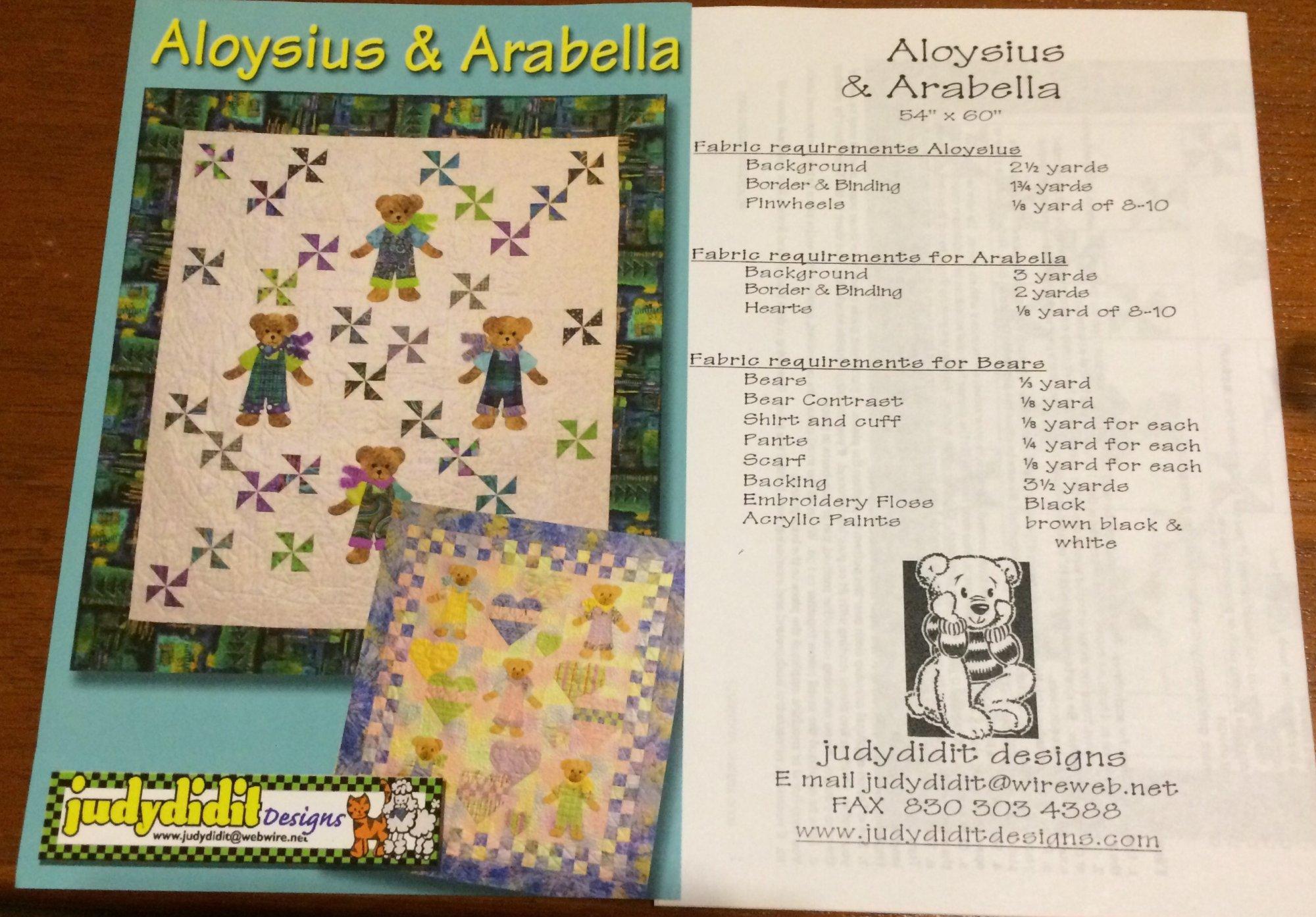 Aloysius & Arabella by Judydidit Designs