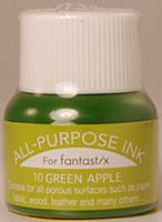 All Purpose Ink 1/2 oz bottle Tsukineko Green Apple # 10