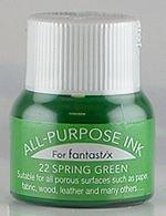 All Purpose Ink 1/2 oz bottle Tsukineko Spring Green # 22