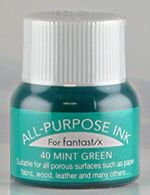 All Purpose Ink 1/2 oz bottle Tsukineko Mint Green # 40