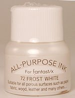 All Purpose Ink 1/2 oz bottle Tsukineko Metallic Frost White # 72