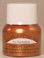 All Purpose Ink 1/2 oz bottle Tsukineko Metallic Bright Copper # 73