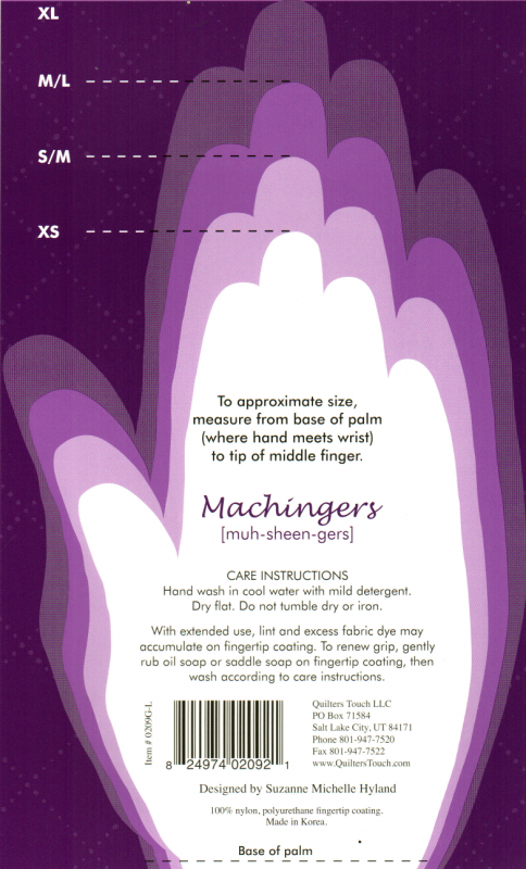 Machingers size chart to print out